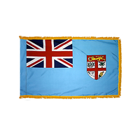 4x6 ft. Nylon Fiji Flag Pole Hem and Fringe