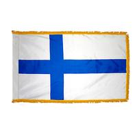 4x6 ft. Nylon Finland Flag Pole Hem and Fringe