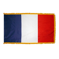 2x3 ft. Nylon France Flag Pole Hem and Fringe