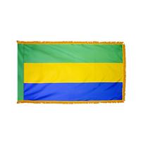 4x6 ft. Nylon Gabon Flag Pole Hem and Fringe