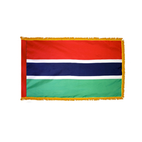 2x3 ft. Nylon Gambia Flag Pole Hem and Fringe
