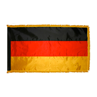 2x3 ft. Nylon Germany Flag Pole Hem and Fringe