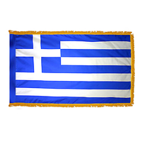 2x3 ft. Nylon Greece Flag Pole Hem and Fringe