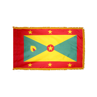 4x6 ft. Nylon Grenada Flag Pole Hem and Fringe