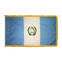 2x3 ft. Nylon Guatemala Flag Pole Hem and Fringe