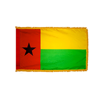 4x6 ft. Nylon Guinea Bissau Flag Pole Hem and Fringe