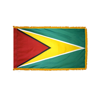 2x3 ft. Nylon Guyana Flag Pole Hem and Fringe