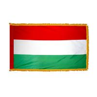 2x3 ft. Nylon Hungary Flag Pole Hem and Fringe
