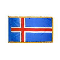3x5 ft. Nylon Iceland Flag Pole Hem and Fringe