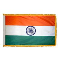 4x6 ft. Nylon India Flag Pole Hem and Fringe
