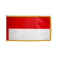 2x3 ft. Nylon Indonesia Flag Pole Hem and Fringe