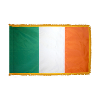 2x3 ft. Nylon Ireland Flag Pole Hem and Fringe