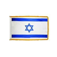 4x6 ft. Nylon Israel Flag Pole Hem and Fringe