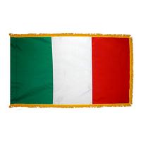 3x5 ft. Nylon Italy Flag Pole Hem and Fringe