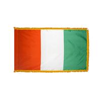 3x5 ft. Nylon Cote d'lvoire/Ivory Coast Flag Pole Hem and Fringe