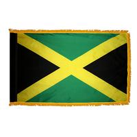 3x5 ft. Nylon Jamaica Flag Pole Hem and Fringe