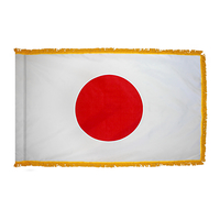 2x3 ft. Nylon Japan Flag Pole Hem and Fringe