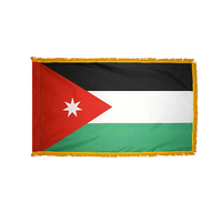 5x8 ft. Nylon Jordan Flag Pole Hem and Fringe