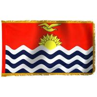2x3 ft. Nylon Kiribati Flag Pole Hem and Fringe