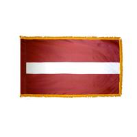 2x3 ft. Nylon Latvia Flag Pole Hem and Fringe
