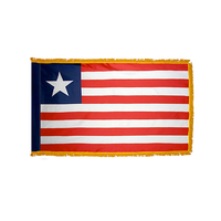 4x6 ft. Nylon Liberia Flag Pole Hem and Fringe