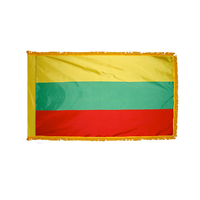 2x3 ft. Nylon Lithuania Flag Pole Hem and Fringe