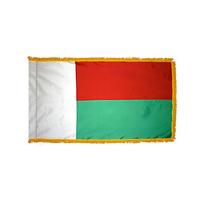 3x5 ft. Nylon Madagascar Flag Pole Hem and Fringe