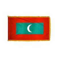 4x6 ft. Nylon Maldives Flag Pole Hem and Fringe