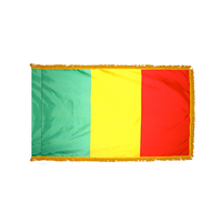 2x3 ft. Nylon Mali Flag Pole Hem and Fringe