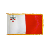 3x5 ft. Nylon Malta Flag Pole Hem and Fringe