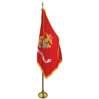 3 x 5ft. Marine Flag Indoor Display Set with Gold Fringe