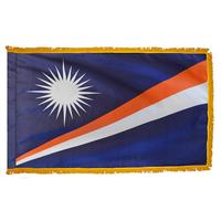 4x6 ft. Nylon Marshall Island Flag Pole Hem and Fringe