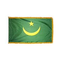 2x3 ft. Nylon Mauritania Flag Pole Hem and Fringe