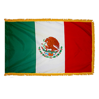 2x3 ft. Nylon Mexico Flag Pole Hem and Fringe
