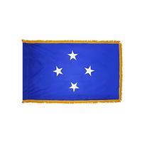 3x5 ft. Nylon Micronesia Flag Pole Hem and Fringe