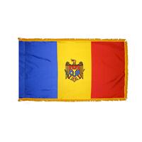 4x6 ft. Nylon Moldova Flag Pole Hem and Fringe