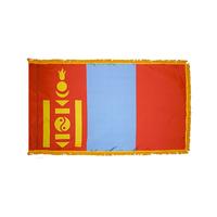 4x6 ft. Nylon Mongolia Flag Pole Hem and Fringe