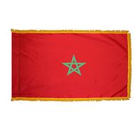 3x5 ft. Nylon Morocco Flag Pole Hem and Fringe