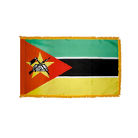 3x5 ft. Nylon Mozambique Flag Pole Hem and Fringe