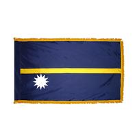 3x5 ft. Nylon Nauru Flag Pole Hem and Fringe