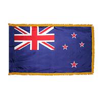 4x6 ft. Nylon New Zealand Flag Pole Hem and Fringe