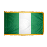 3x5 ft. Nylon Nigeria Flag Pole Hem and Fringe