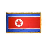 2x3 ft. Nylon Korea North Flag Pole Hem and Fringe