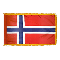 2x3 ft. Nylon Norway Flag Pole Hem and Fringe