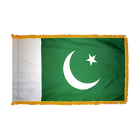 2x3 ft. Nylon Pakistan Flag Pole Hem and Fringe