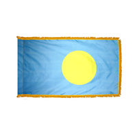 4x6 ft. Nylon Palau Flag Pole Hem and Fringe