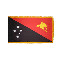 3x5 ft. Nylon Papua New Guinea Flag Pole Hem and Fringe