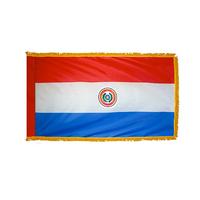 4x6 ft. Nylon Paraguay Flag Pole Hem and Fringe