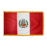 4x6 ft. Nylon Peru Flag Pole Hem and Fringe