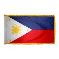 2x3 ft. Nylon Philippines Flag Pole Hem and Fringe